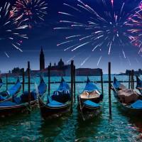 Fuegos artificiales en Venecia