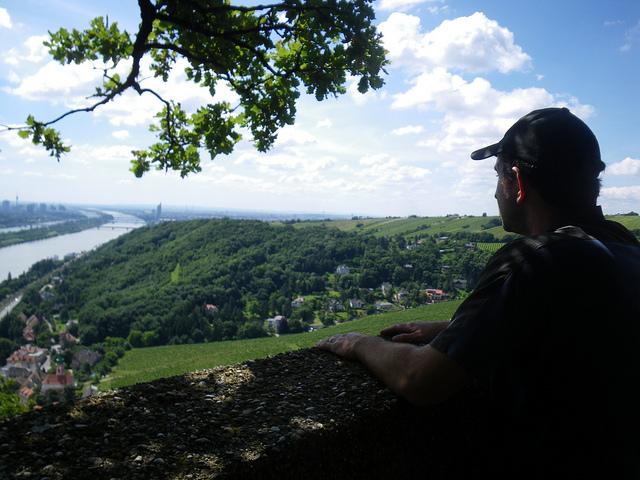 Daniel enjoying the Austrian view