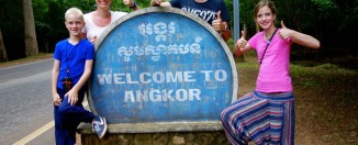 Emiel in Angkor