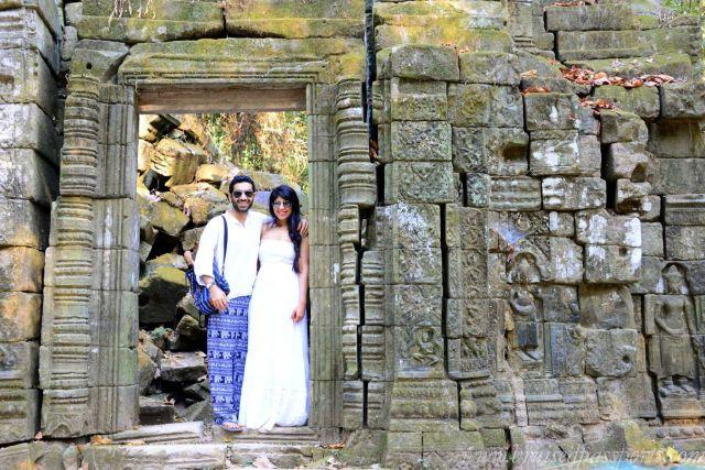 Savi and Vid in Cambodia
