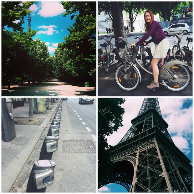 Biking in Paris and London