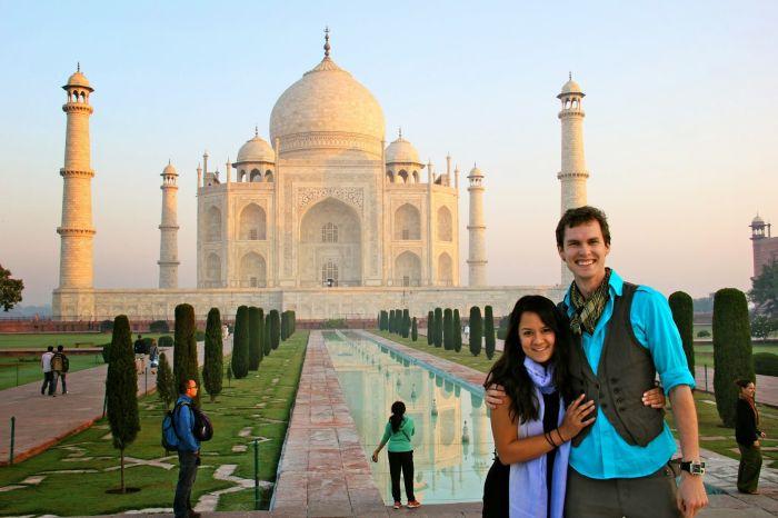Captain and Clark at Taj Mahal