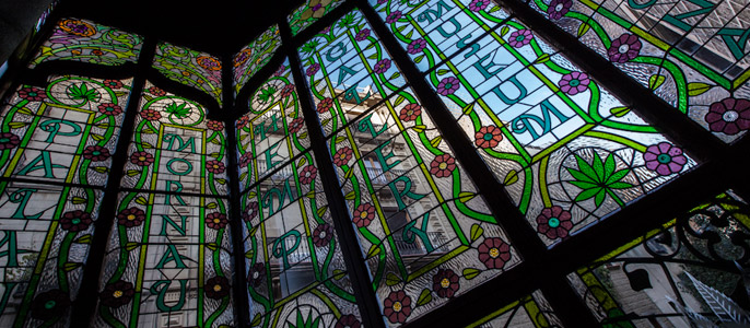 Stained-glass Window Hash Museum Barcelona