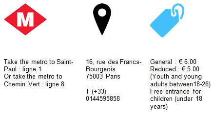 Praktical Information Museum Carnavalet Paris GowithOh