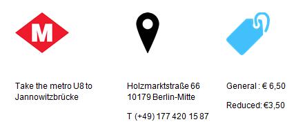 Practical Information Buchstabenmuseum Berlin - GowithOh