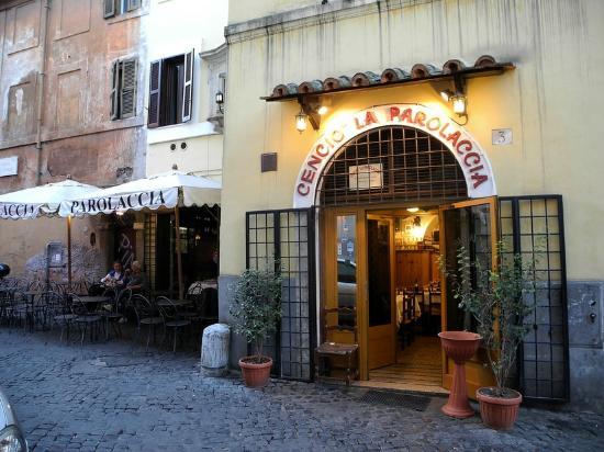 Restaurant Rome Cencio la Parolaccia